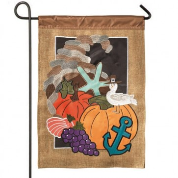 Coastal Thanksgiving Garden Flag