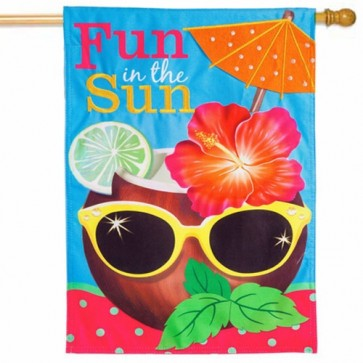 Coconut Drink Linen House Flag