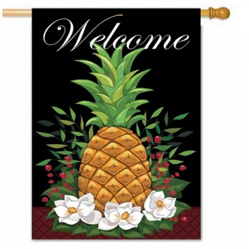 Colonial Pineapple Welcoming House Flag