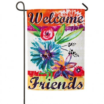 Colorful Floral Day Garden Flag