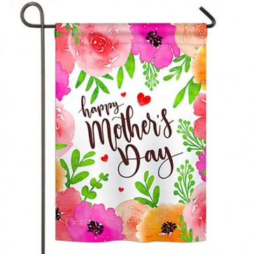 Colorful Happy Mothers day Garden Flag