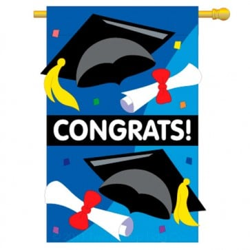 Congrats (Graduation) House Flag