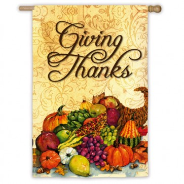 Cornucopia (Giving Thanks) House Flag