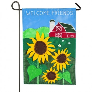 Country Sunflower Garden Flag