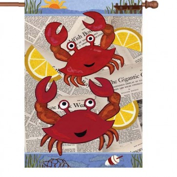 Crab Feast House Flag
