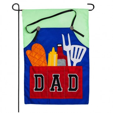 Dad's Grill Tools Father's Day Garden Flag