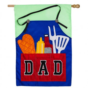 Dad's Grill Tools Fathers Day House Flag