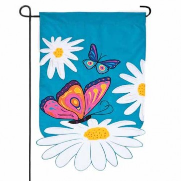 Daisies and Butterflies Garden Flag