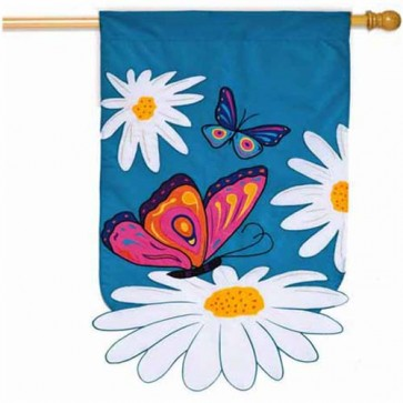 Daisies and Butterflies House Flag