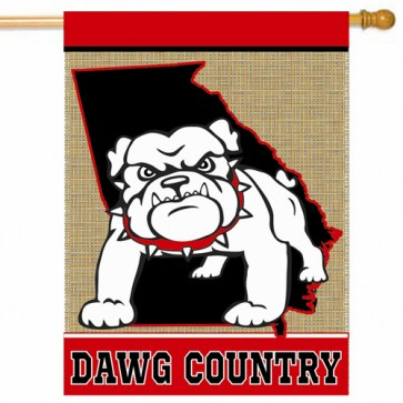 Dawg Country College House Flag