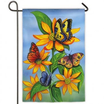 Descending Butterflies   Garden Flag