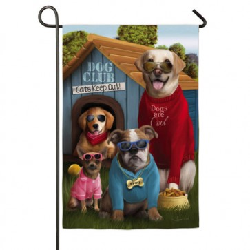 Dogs are Cool Garden Flag