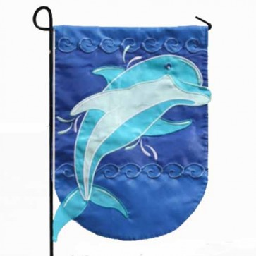 Dolphin Splash Garden Flag
