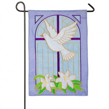Dove on Cross Easter Garden Flag