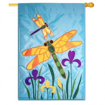 Dragonflies House Flag