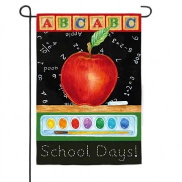 Big Apple School Days Garden Flag