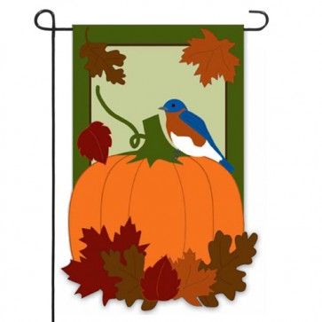 Autumn Bluebirds Garden Flag