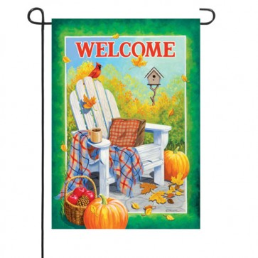 Fall Adirondack Chair Garden Flag