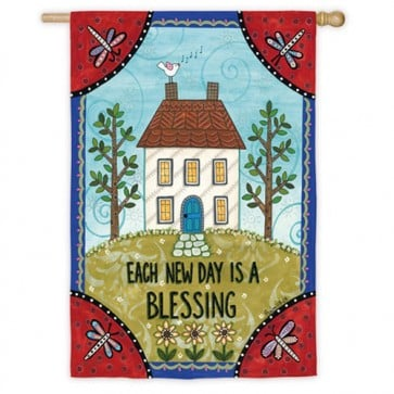 Each day is a Blessing House Flag