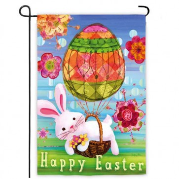 Easter Bunny Balloon Garden Flag