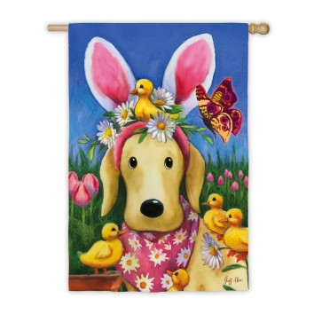 Easter Bunny Ears on Dog House Flag