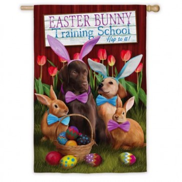 Easter Bunny Training School House Flag