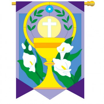 Easter Cup and Cross Easter House Flag