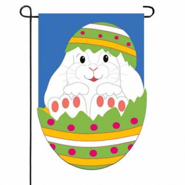 Easter Egg Bunny Garden Flag