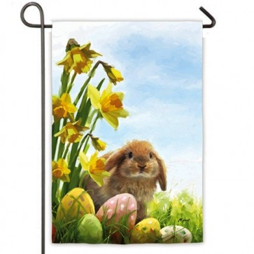 Easter Bunny and Chicks Garden Flag