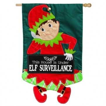 Elf Surveillance House Flag