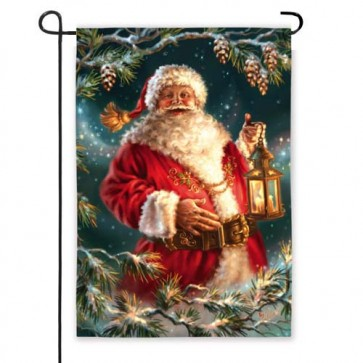 Enchanted Santa Garden Flag