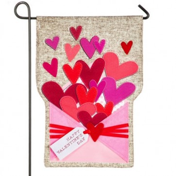 Envelope of Wishes Valentine's day Garden Flag