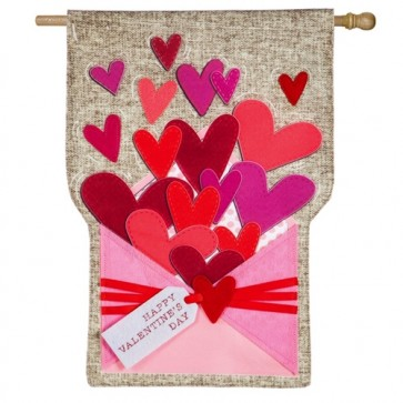 Envelope of Wishes Linen Valentine's Day House Flag