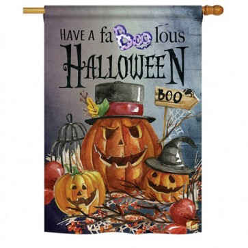 Faboolous Halloween House Flag