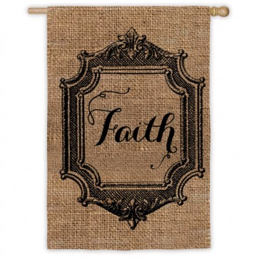 Faith (Burlap) House Flag