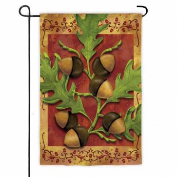 Fall Acorns Garden Flag