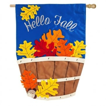 Fall Basket House Flag