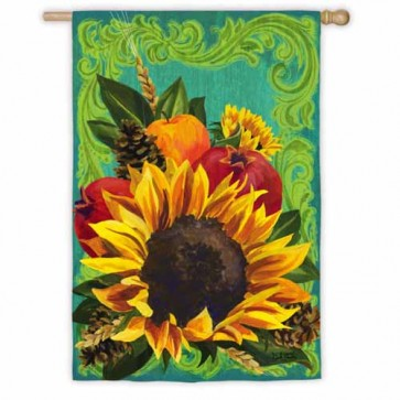 Fall Floral House Flag