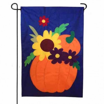 Fall Flower Medley Garden Flag
