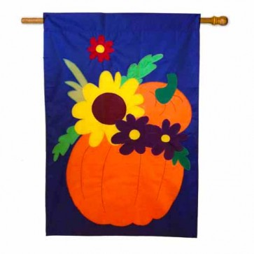 Fall Floral Medley House flag