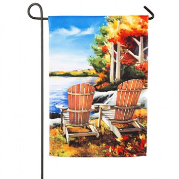 Fall Lake Garden Flag