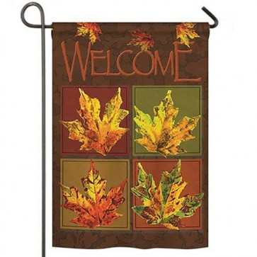 Fall Leaves Collage Garden Flag