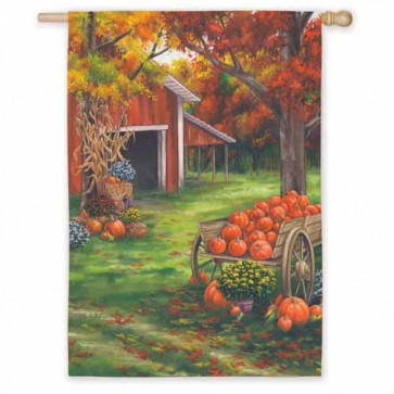 Fall on the Farm  House Flag