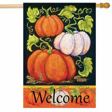 Fall Pumpkins House Flag