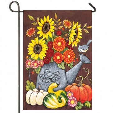 Fall Watering Can Garden Flag