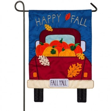 Happy Fall Y'all Pickup Truck Garden Flag