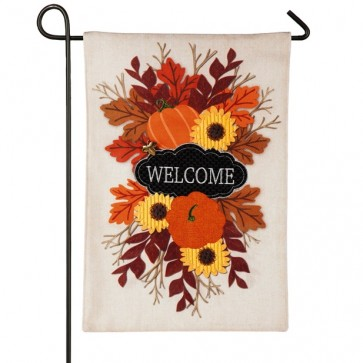 Fall Floral Welcome Garden Flag