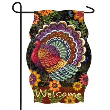 Fancy Folk Turkey Garden Flag