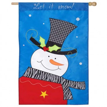 Fashion Snowman House Flag