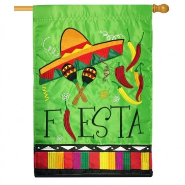 Fiesta Party House Flag